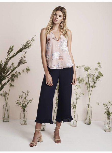 Three Eighty Two Crop Ruffle Hem Pant