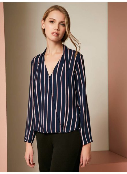 Three Eighty Two Rowen Surplice Blouse