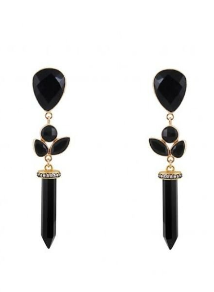 Atelier Mon Onyx Drop Earrings