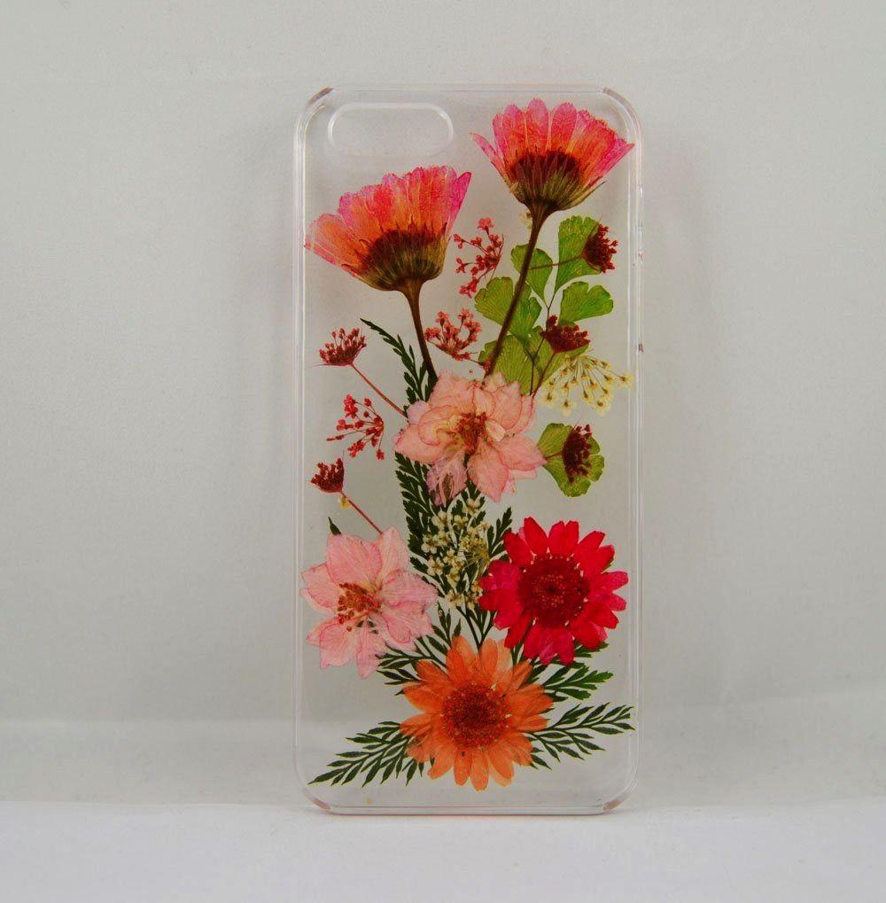 Serendipity Red Daisy, Larkspur & Leaf Garden Case iPhone6