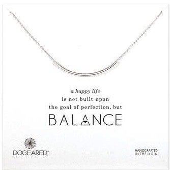 Dogeared Balance Tube Necklace, Sterling Silver