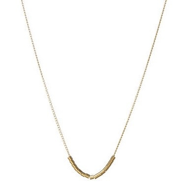 Dogeared Balance Smooth Bead Necklace, Gold Dipped