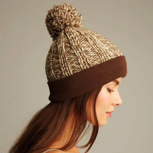 ANEW Two Color Pom Pom Hat