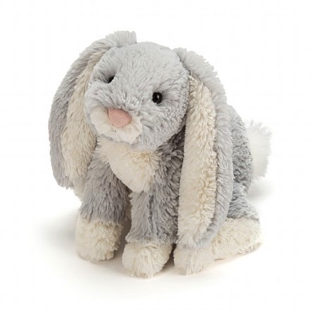 Jellycat Loppy Bunny Silver Medium