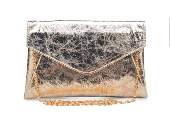 Serendipity Bellini Clutch- Light Gold