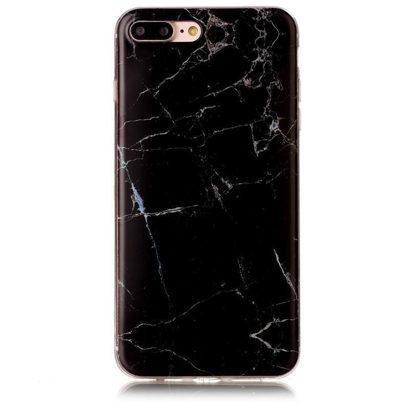 Serendipity iPhone 7 Marble/Granite/Stone Silicon Case-Black