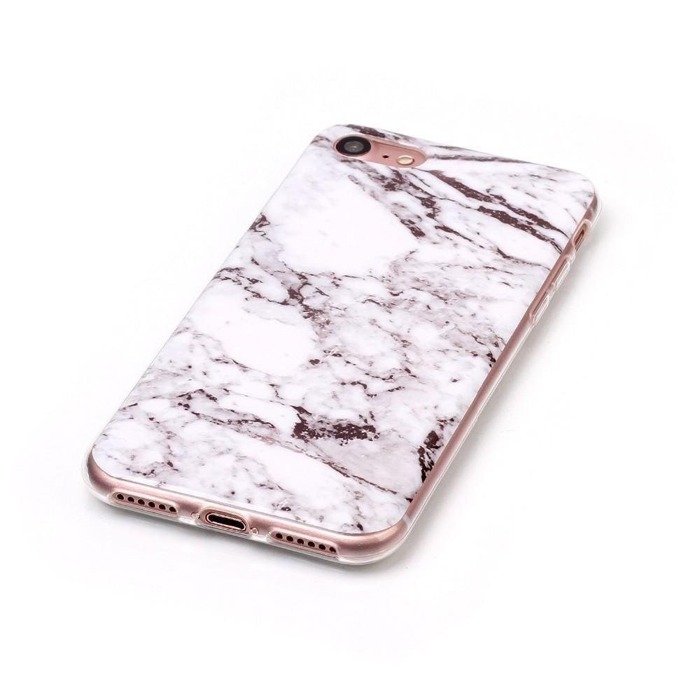 Serendipity iPhone 7 Marble/Granite/Stone Silicon Case- White