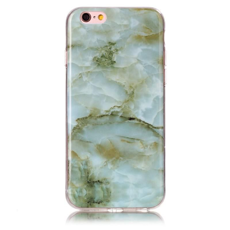 Serendipity iPhone 7 Marble/Granite/Stone Silicon Case-Green