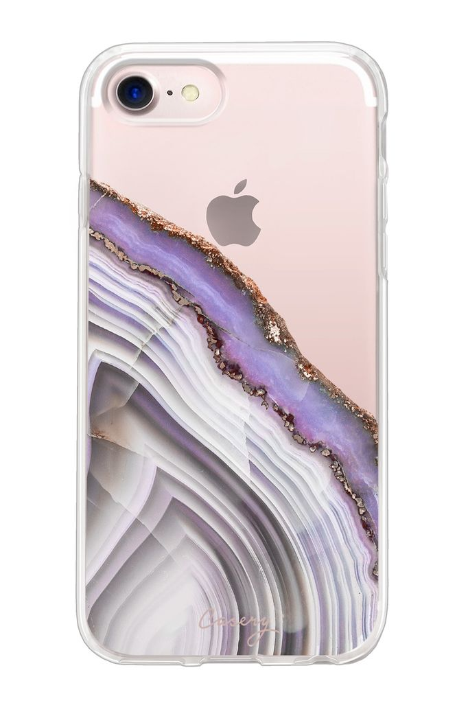 The Casery Light Purple Agate Hybrid iPhone Case