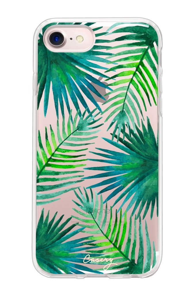 The Casery Palm Leaves Hybrid iPhone Case