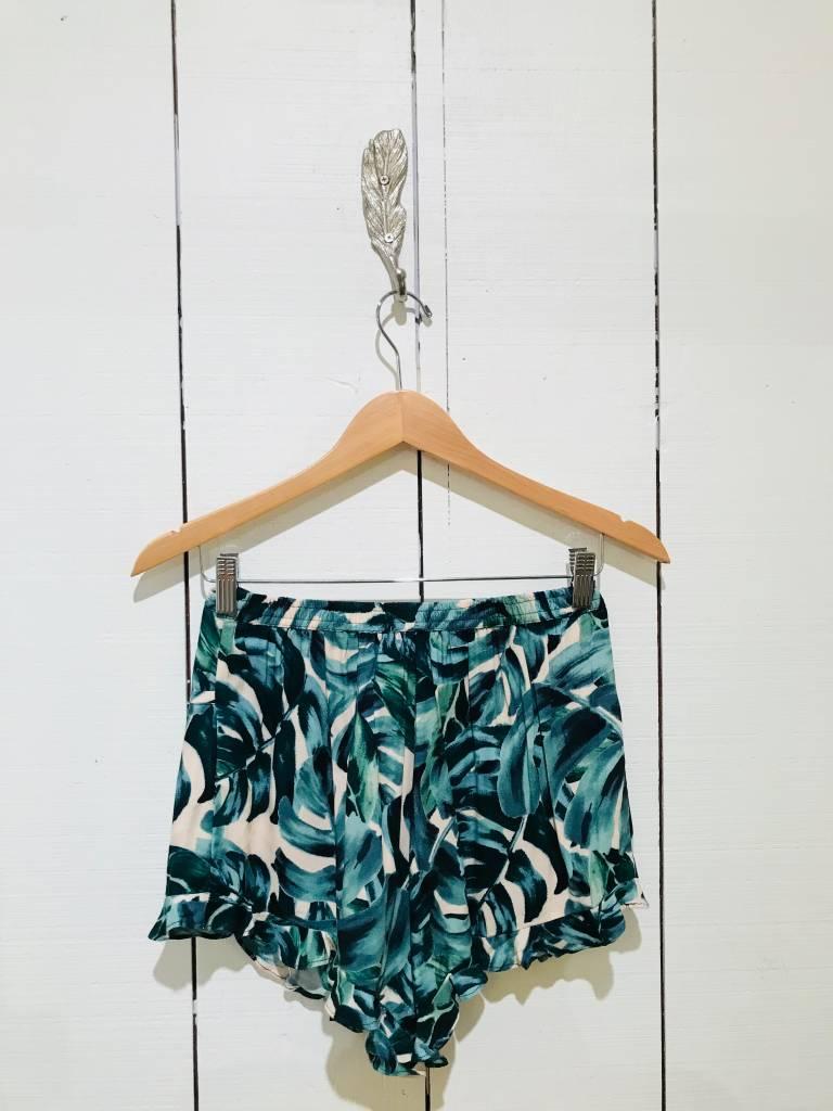 EM & ELLE Tropical Drawstring Shorts