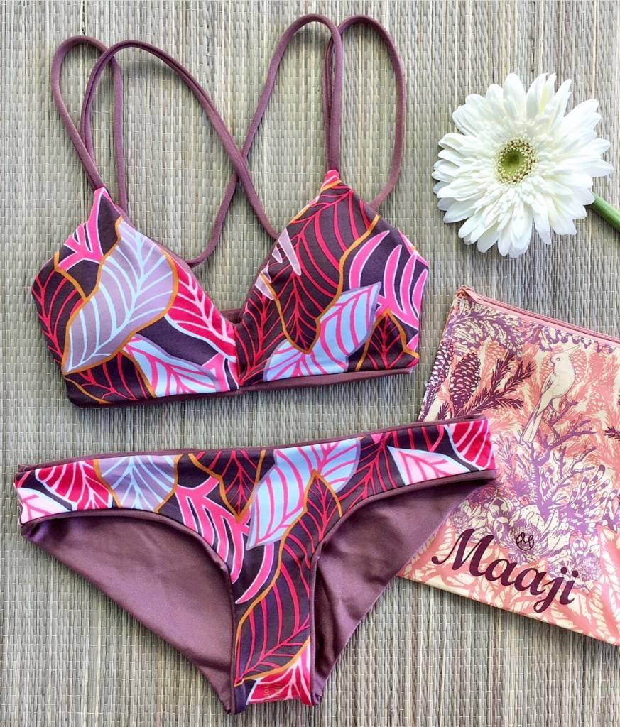 Maaji Shimmering Cognac Porto Bikini Top