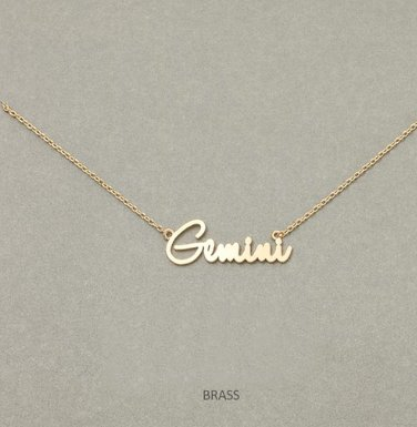 MIsc Script Horoscope Necklace * Gemini