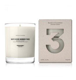White Wood THREE, 12.5 oz. Candle