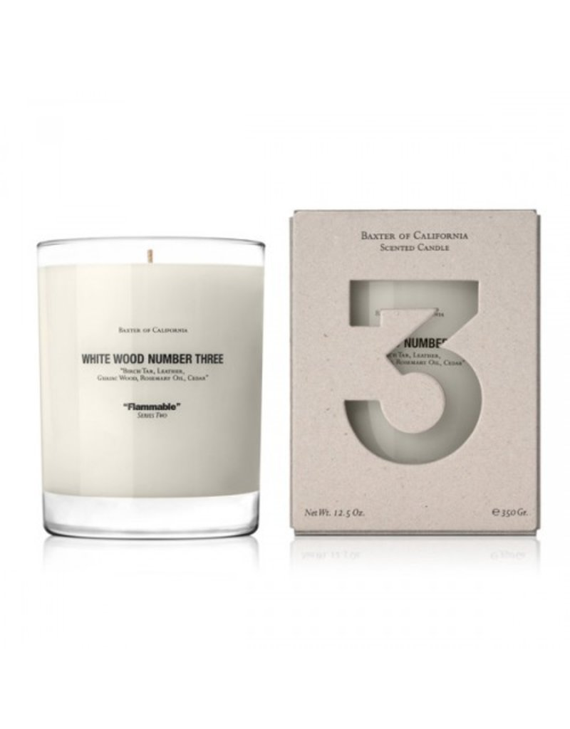 Baxter of California Baxter of California White Wood THREE Candle<br />
