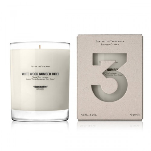 White Wood THREE, 12.5 oz. Candle