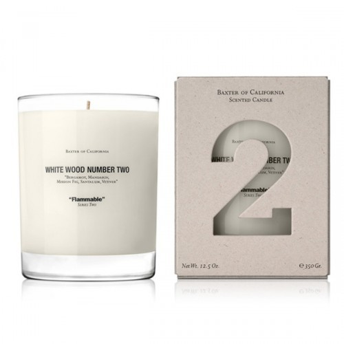 Baxter of California White Wood TWO Candle<br />