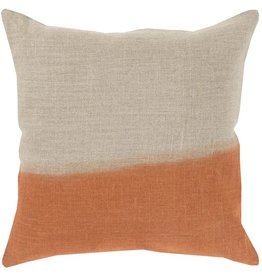 Burnt Orange Ombre Linen Pillow