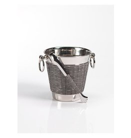 Zodax Woven Cane Wine Chiller with Tongs