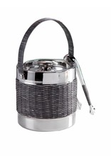 Woven Cane Wine Chiller with Tongs