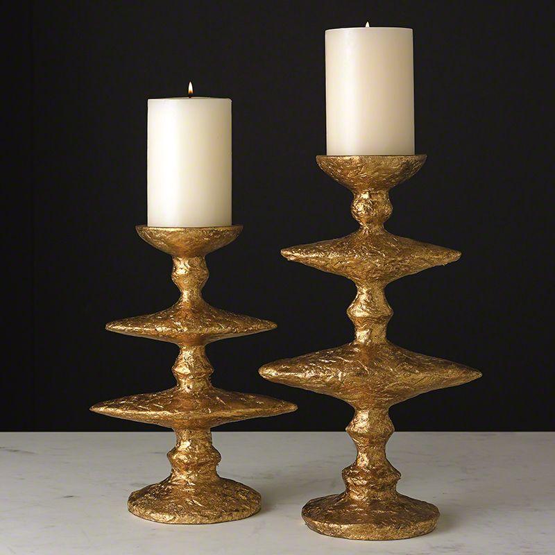 Small Zulu Candleholder-Gold