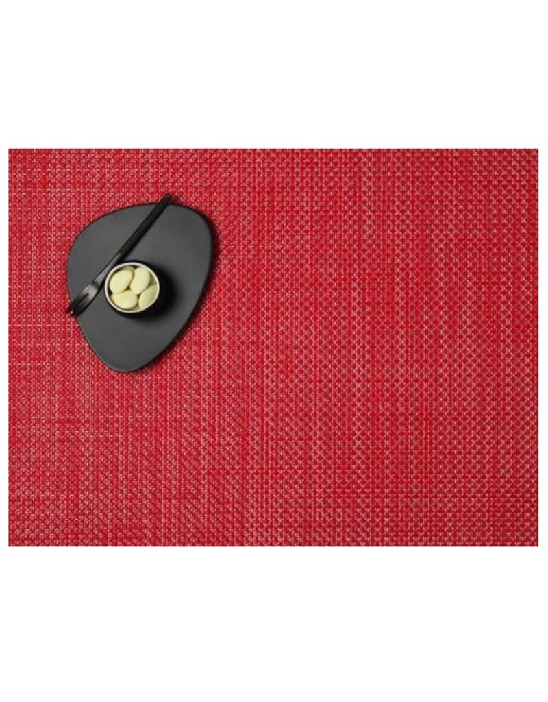 """Chilewich 14""""x19"""" Basketweave Table Mat, Red"""