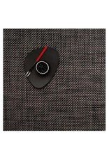 """Chilewich 13""""x14"""" Basketweave Table Mat, Carbon"""