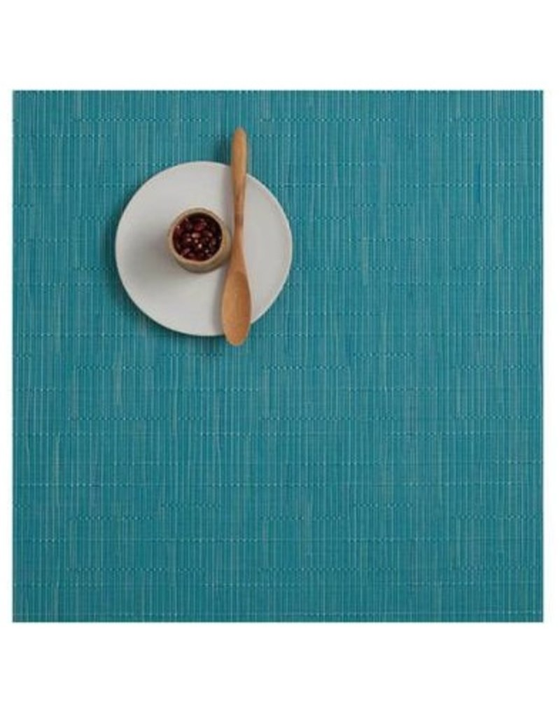 "Chilewich 13""x14"""" Bamboo Table Mat, Teal"