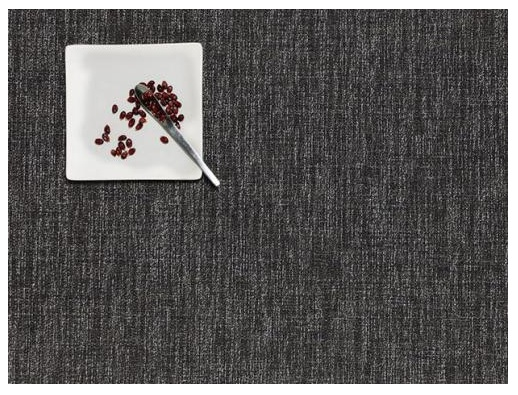 "14""x19"" Boucle Table Mat, Grey"