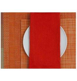 Chilewich Linen Napkin 21x21 CARROT