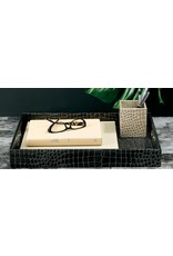 Bodrum Rectangular Tray, Skate Gold