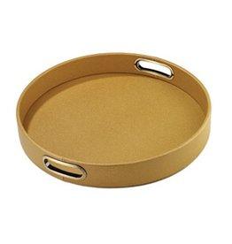 """15"""" Round Tray, Gold Skate"""