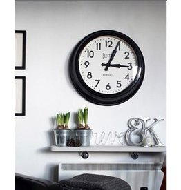 "Vintage ""Electric"" Station Clock- Black"
