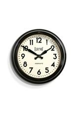 """Vintage """"Electric"""" Station Clock- Black"""