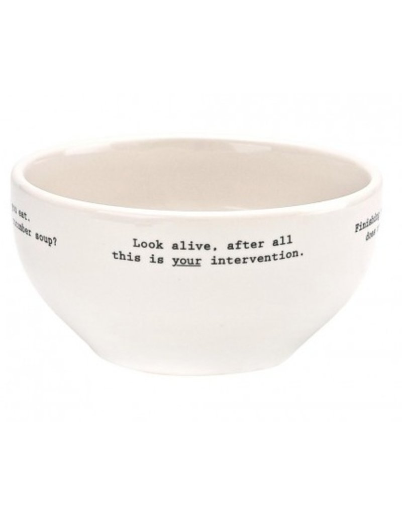 Fishs Eddy Intervention-ware Cereal Bowl