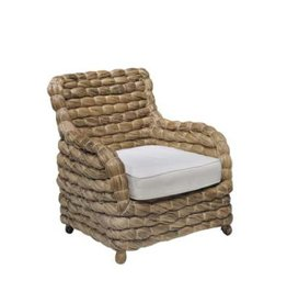 St. Tropez Chair, Seagrass with Cream Linen