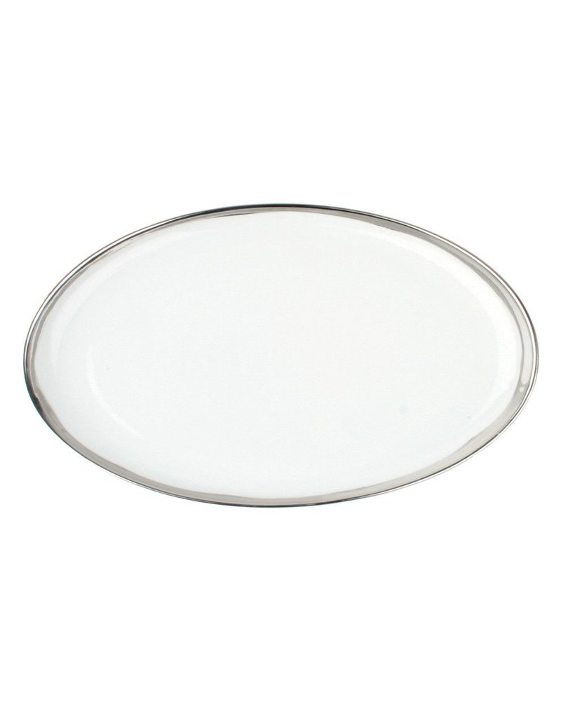 Canvas Home Dauville Platter with Platinum Rim, Small