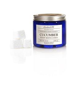 Elizabeth W Cucumber Fizzy Bath Cubes, 13 oz.