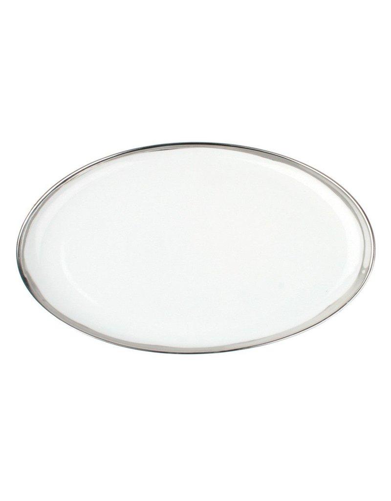 Canvas Home Dauville Platter with Platinum Rim, Large