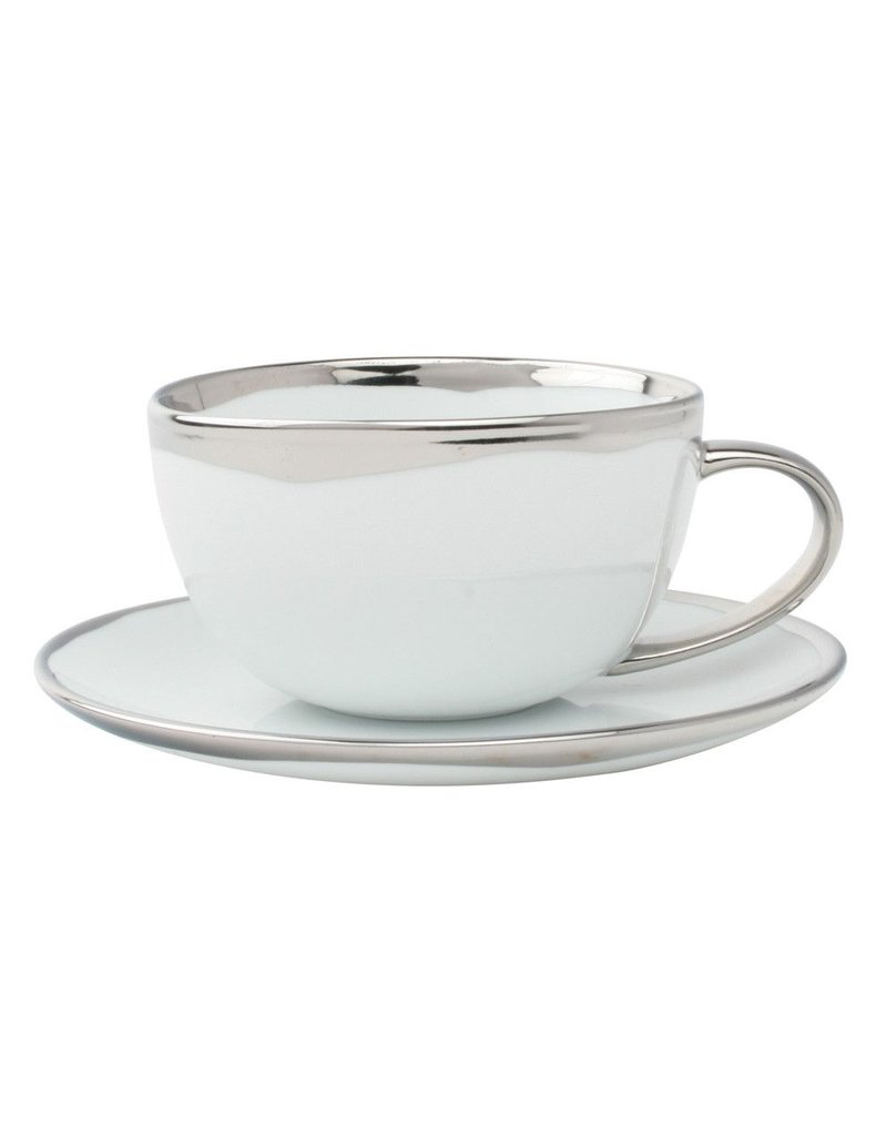 Canvas Home Dauville Cup & Saucer in Platinum
