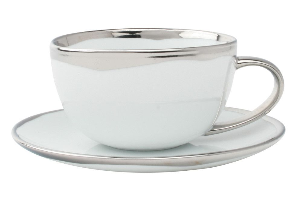 Dauville Cup & Saucer in Platinum