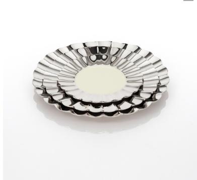 Medium Cadence Plate, Polished/Oyster