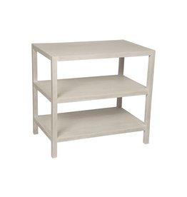 Noir 2 Shelf Side Table, White Wash