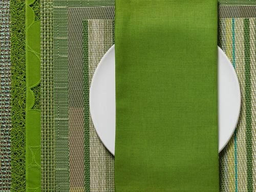 Single Sided Linen Napkin, Grass Green