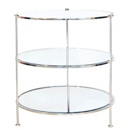 Worlds Away Three-Tier Side Table