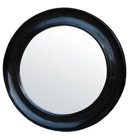 Noir Large Sutton Mirror, Hand Rubbed Black