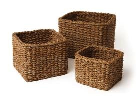 SEAGRASS MINI SQUARE BASKET<br /> SEAGRASS MINI SQUARE BASKET