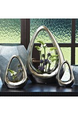 Global Views Carry About Vase-Silver-Lg