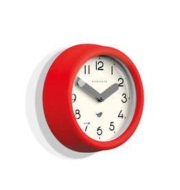 Newgate Pantry Clock- Fire Engine Red