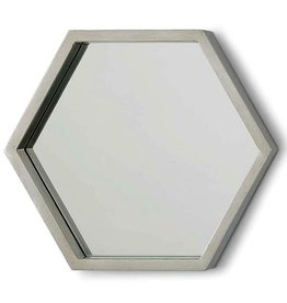 Bee Hive Mirror Silver Leaf